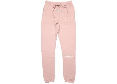 FEAR OF GOD ESSENTIALS Pink Sweatpants Blush at Stock X