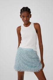 FEATHER LOOK MINI SKIRT at Zara