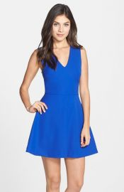 FELICITY andamp COCO Back Cutout Fit andamp Flare Dress at Nordstrom