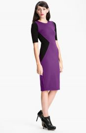 FELICITY andamp COCO Contrast Panel Sheath Dress at Nordstrom
