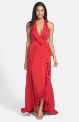 FELICITY andamp COCO Ruffled Faux Wrap Maxi Dress at Nordstrom
