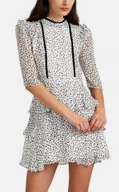 FEROLINE DOT-PATTERN SILK DRESS at Barneys