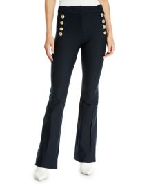FLARE TROUSERS W SAILOR BUTTONS at Neiman Marcus
