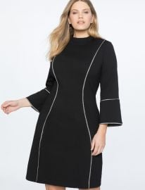 FLARE SLEEVE A-LINE DRESS at Eloquii