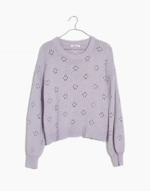FLORAL POINTELLE PULLOVER SWEATER at Madewell