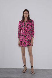FLORAL PRINT BLAZER DRESS at Zara
