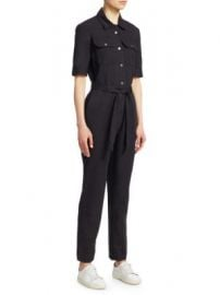 FRAME - Belted Jumpsuit at Saks Fifth Avenue