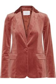 FRAME   Classic cotton-blend velvet blazer at Net A Porter