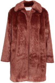 FRAME   Faux fur coat at Net A Porter