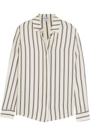 FRAME   Le Classic striped washed silk-charmeuse shirt at Net A Porter