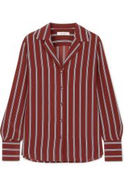 FRAME - Striped silk shirt at Net A Porter