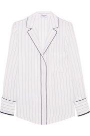 FRAME   Striped silk shirt at Net A Porter
