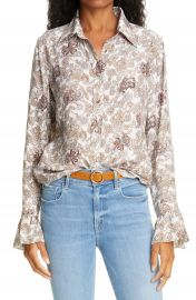 FRAME   x27 70s Ruffle Silk Top   Nordstrom at Nordstrom