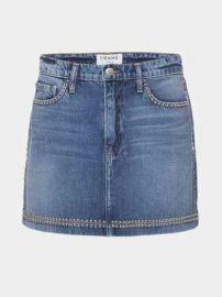 Studded Denim Skirt at Frame
