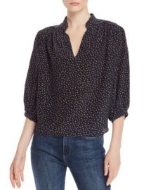 FRAME Cali Dot-Print Silk Top Women - Bloomingdale s at Bloomingdales