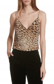 FRAME Cheetah Print Silk Camisole at Nordstrom