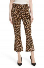 FRAME Cheetah Print Velvet Crop Flare Pants   Nordstrom at Nordstrom