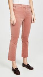 FRAME Cropped Perfect Velvet Trousers at Shopbop