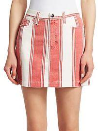 FRAME DENIM - Le Mini Striped Skirt at Saks Off 5th