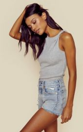 FRAME Denim Knot Shoulder Tank at Planet Blue
