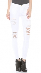 FRAME Denim Le Color Rip Skinny Jeans at Shopbop