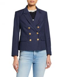 FRAME Double Breasted Shrunken Blazer at Neiman Marcus