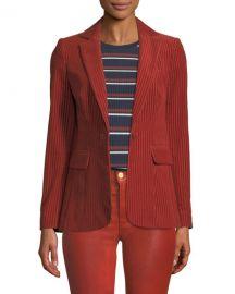 FRAME Fine Variegated One-Button Blazer Jacket at Neiman Marcus