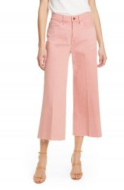 FRAME High Waist Crop Wide Leg Jeans  Peony   Nordstrom Exclusive    Nordstrom at Nordstrom