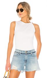 FRAME Knot Shoulder Tank in Blanc from Revolve com at Revolve