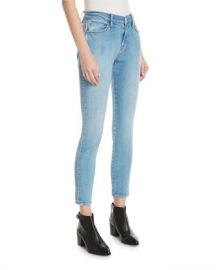 FRAME Le Studded High-Waist Skinny Jeans at Neiman Marcus