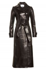 FRAME Leather Trench Coat at Nordstrom