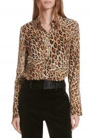 FRAME Leopard Print Silk Blouse at Nordstrom