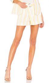 FRAME Linen Stripe Short in Golden Haze Multi from Revolve com at Revolve