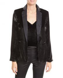 FRAME Metallic Satin Single-Button Blazer at Neiman Marcus