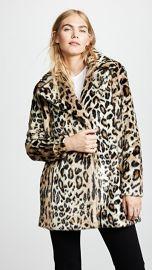 FRAME Notched Collar Fur Coat at Shopbop