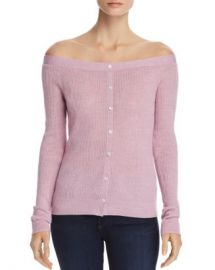 FRAME Off-the-Shoulder Button Detail Sweater - 100  Exclusive Women - Bloomingdale s at Bloomingdales