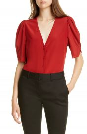 FRAME Olivia Silk Top   Nordstrom at Nordstrom