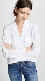 FRAME Pocket Silk Blouse at Shopbop