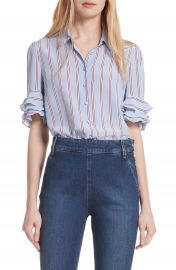 FRAME Ruffle Sleeve Silk Blouse  Nordstrom Exclusive    Nordstrom at Nordstrom