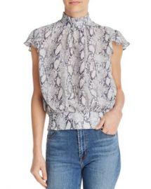 FRAME Ruffled Snake Print Silk Top - 100  Exclusive  Women - Bloomingdale s at Bloomingdales