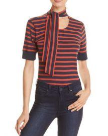 FRAME Scarf Tie-Neck Striped Tee Women - Bloomingdale s at Bloomingdales