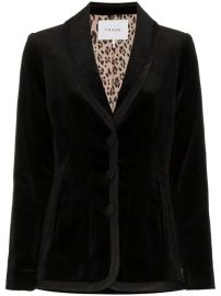 FRAME Single Breasted And Printed Lined Velvet Blazer   - Farfetch at Farfetch