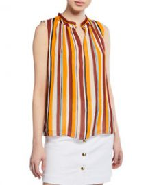 FRAME Sleeveless Striped Raglan Top at Last Call