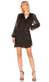 FRAME Smocked Raglan Dress in Noir from Revolve com at Revolve