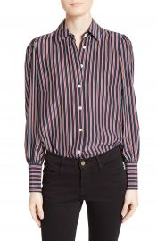 FRAME Stripe Silk Blouse  Nordstrom Exclusive at Nordstrom