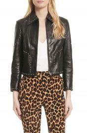 FRAME Studded Leather Jacket   Nordstrom at Nordstrom