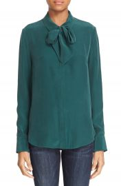 FRAME Tie Neck Silk Blouse  Nordstrom Exclusive at Nordstrom