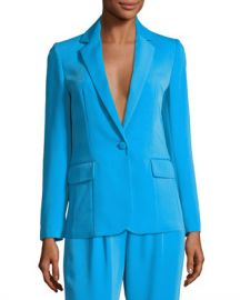 FRAME True Notched-Collar One-Button Blazer at Neiman Marcus