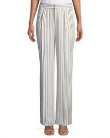 FRAME True Stripe Straight-Leg Pants at Neiman Marcus