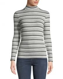 FRAME Turtleneck 70  x27 s Inspired Striped Ribbed Sweater at Neiman Marcus